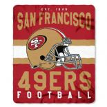 San Francisco 49ers Football Established 1946 Fleece Throw Blanket